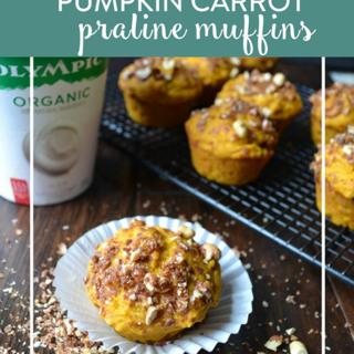 Pumpkin Carrot Praline Muffins