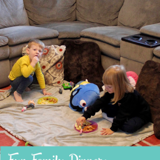 Fun Family Dinner: Indoor Picnic