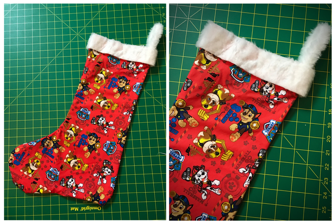 TheInspiredHome.org // DIY Paw Patrol Stocking Detail
