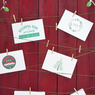6 DIY Printable Holiday Cards