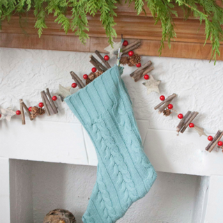 DIY Upcycled Sweater Stocking