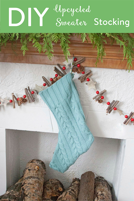 TheInspiredHome.org // Don't knit? No problem - get your upcycle on and make an upcycled sweater stocking like a boss!