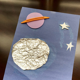 Space Crafts for Preschoolers: Tin Foil Moon