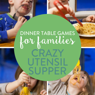 Dinner Table Games for Families: Crazy Utensil Supper