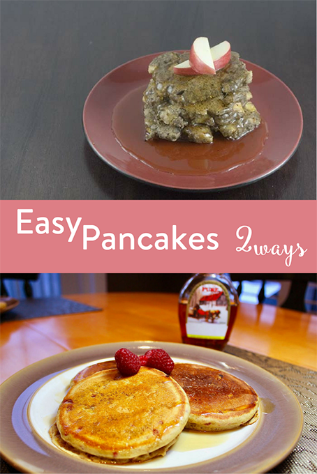TheInsipredHome.org // Easy Pancakes 2 Ways