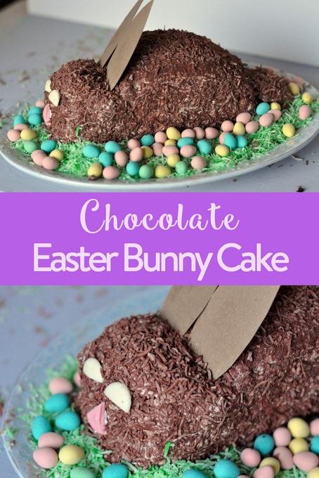 Chocolate Easter Bunny Cake Lactose Free The Inspired Home