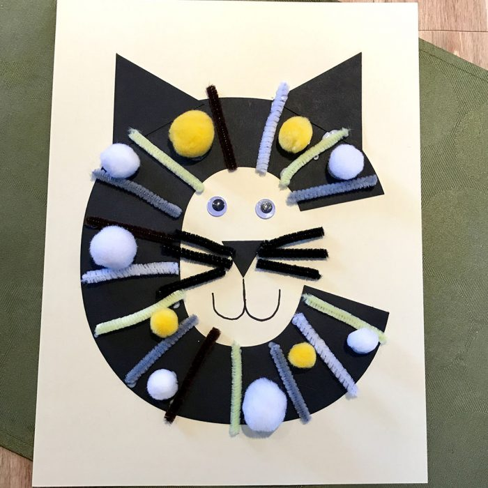TheInspiredHome.org // Do you love cats as much as we do? Then round up the kids and get crafting! This letter C activity is tons of fun with C is for Cat.