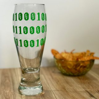 DIY Custom Pint Glasses: Binary Dad