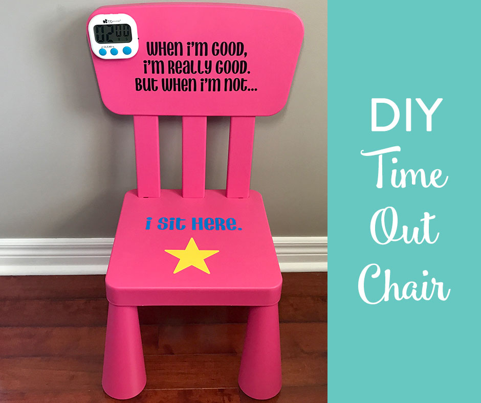 96 Child Time Out Chair Decal Toddler Timeout Chair Vinyl Decal