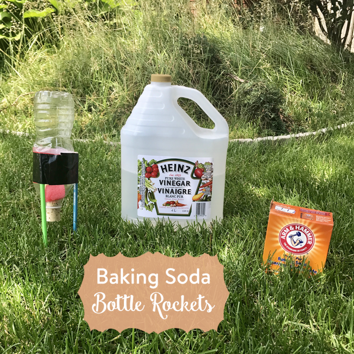 TheInspiredHome.org // Nothing says summer quite like baking soda bottle rockets. All you need are a few simple items from around your house to make some explosive fun.