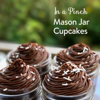 Mason Jar Cupcakes In a Pinch