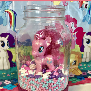 My Little Pony Mason Jar Centerpiece